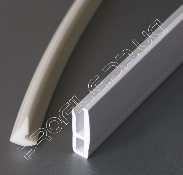 PVC slit-less system for stretched ceiling